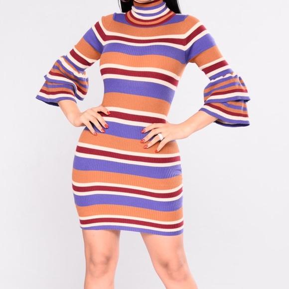 f31224013e7 Fashion Nova Dresses   Skirts - Fashion Nova Striped Sweater Dress ...